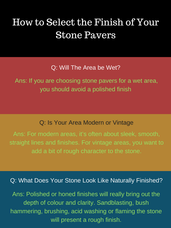 How to Select the Finish of Your Stone Pavers