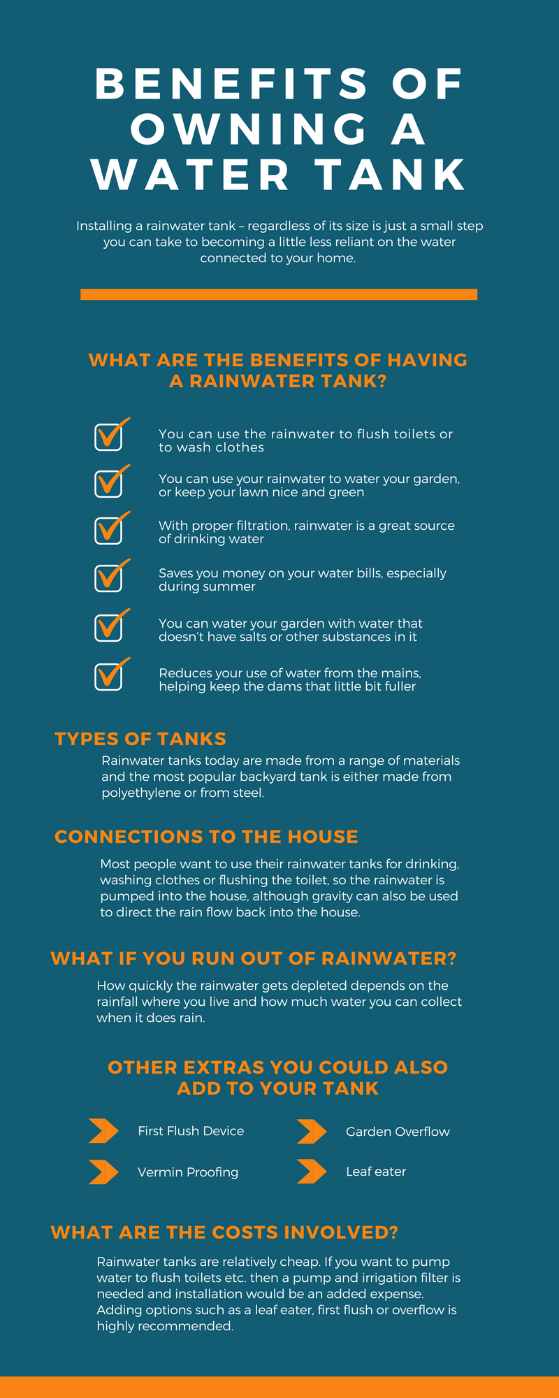 Benefits of Owning A Rainwater Tank