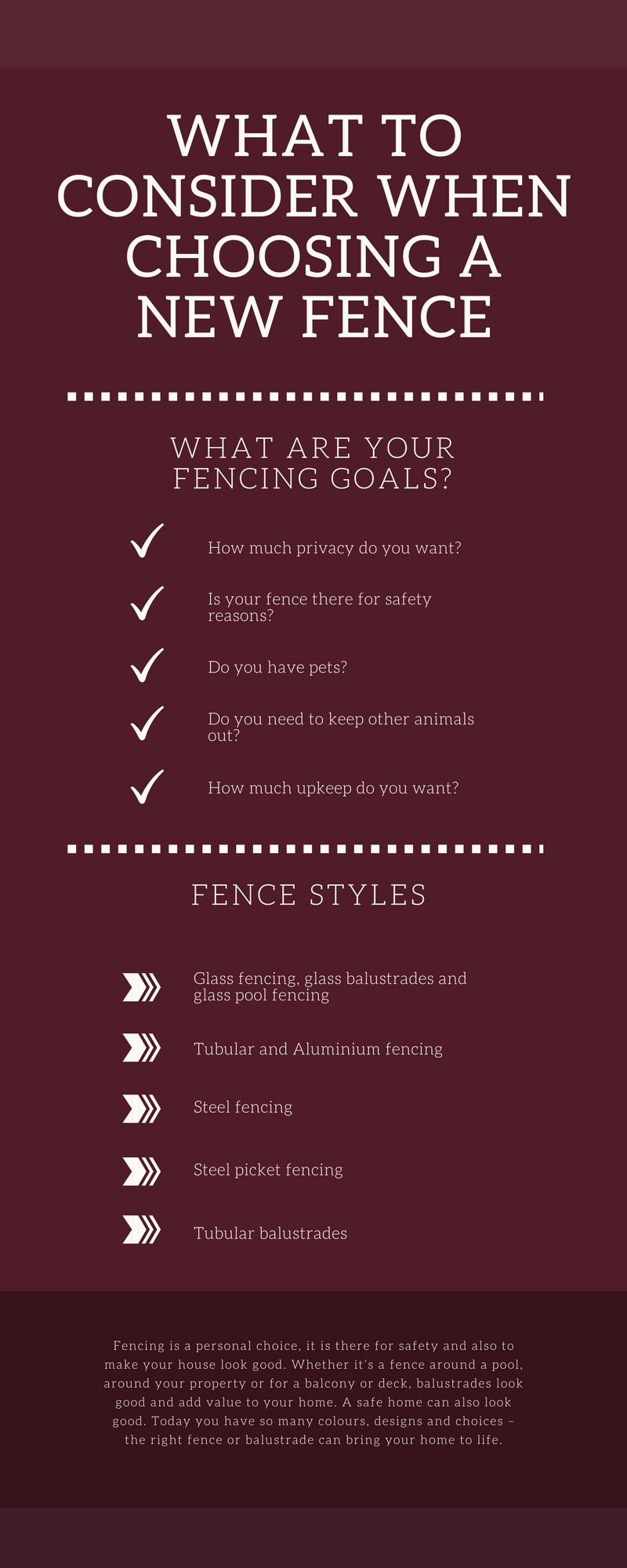 What You Need to Consider When Choosing a Fence