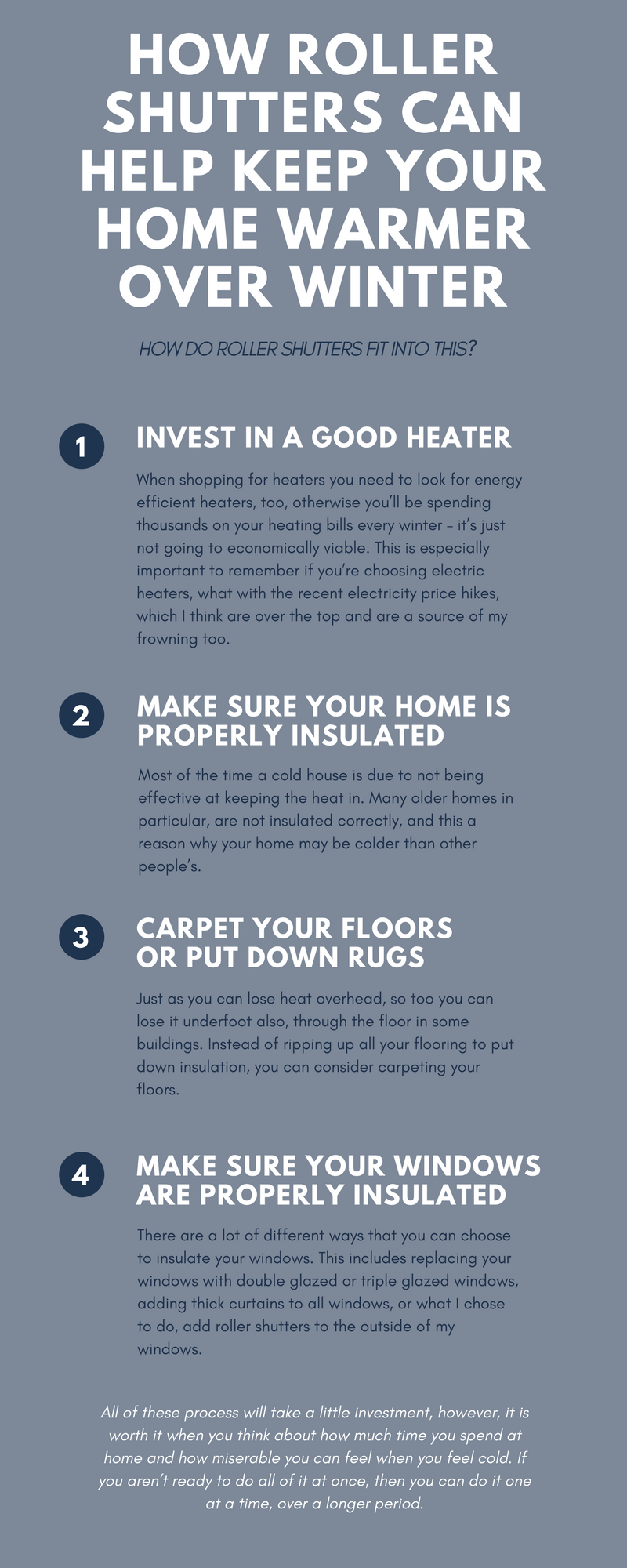 How Roller Shutters Can Help to Keep Your Home Warmer Over Winter