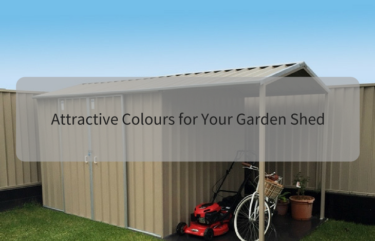 attractive colours for your garden shed