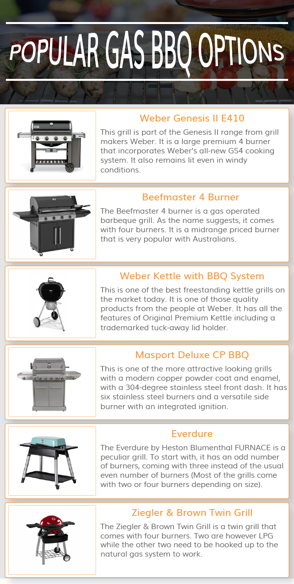 POPULAR GAS BBQ OPTIONS