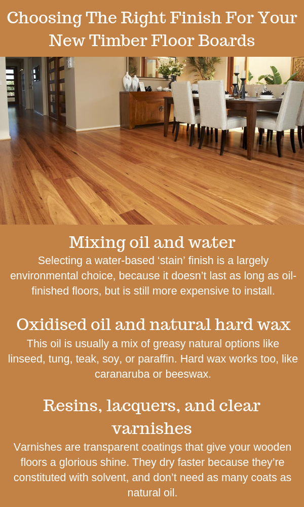 Choosing The Right Finish For Your New Timber Floor Boards